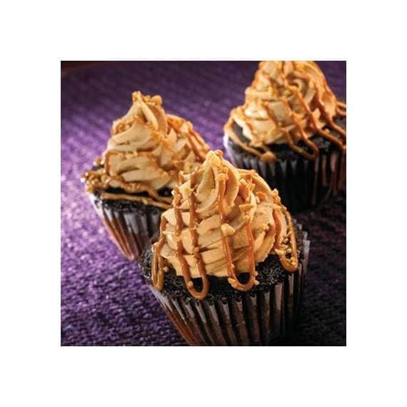 Peanut Butter Topped Jumbo Cupcakes